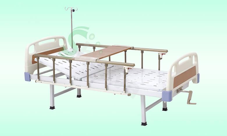 SLV-B4010-ABS手动单摇护理床,ABS-Single-crank