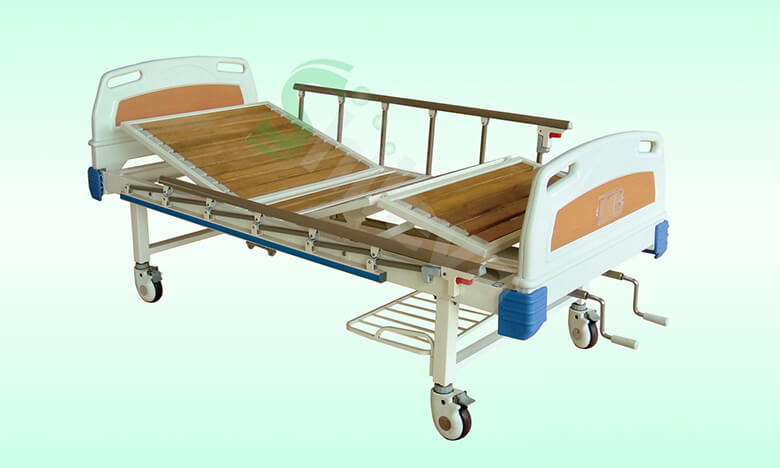 SLV-B4021-ABS手动双摇护理床,ABS-Double-crank-Manual