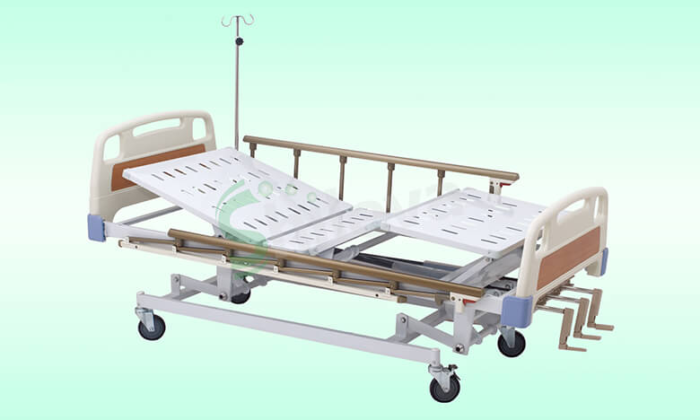 SLV-B4030-ABS-手动三摇护理床,ABS-Hospital-Bed-with