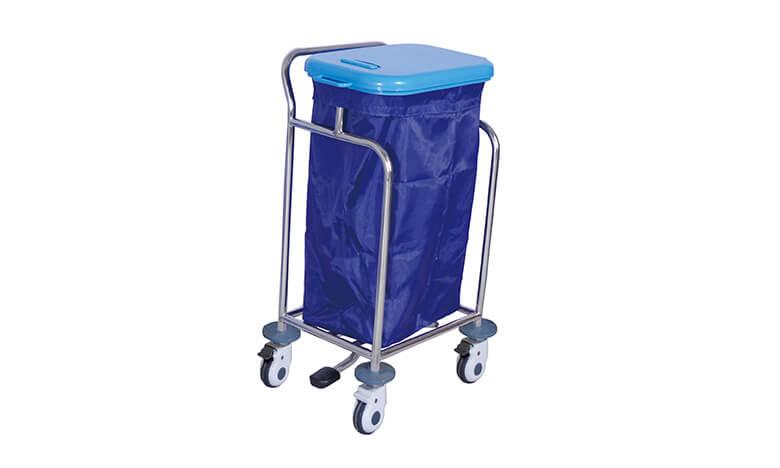 不锈钢单桶污物医用推车