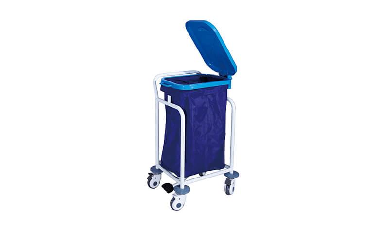 单桶污物车蓝色袋子