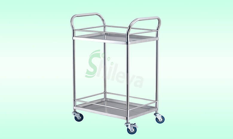SLV-C4001两层器械车,Treatment-Trolley-with-two-shelves