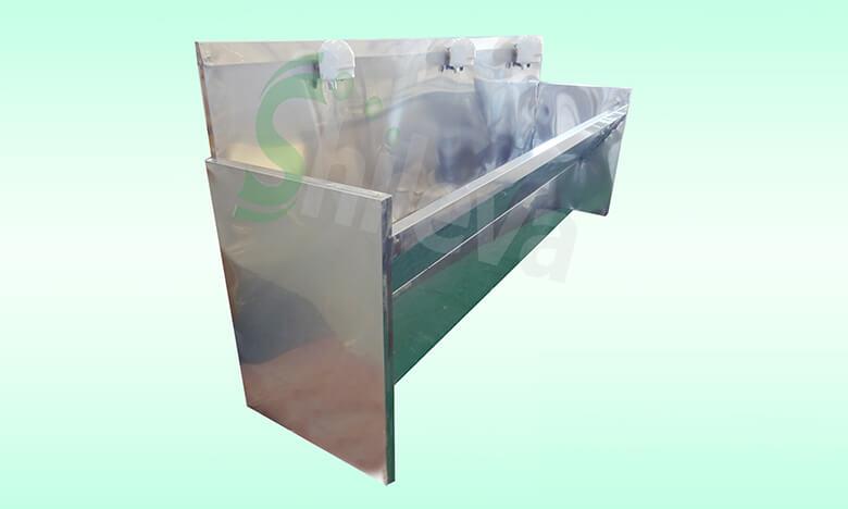SLV-D4034不锈钢感应洗手槽3位,Stainless-Steel